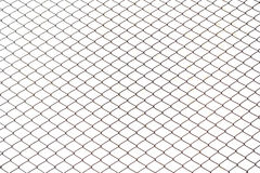 Fence from steel mesh Royalty Free Stock Images
