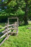 The fence and stile in the farm Royalty Free Stock Images