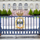 The fence of Stockholm Royal Palace Stock Images
