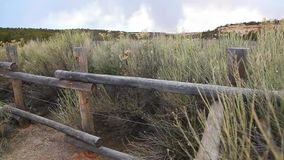 Fence and Storm stock footage
