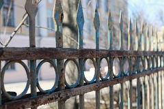 Fence street iron forged Royalty Free Stock Images