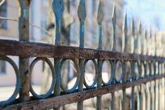 Fence street iron forged Stock Photos