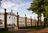 Fence of the summer garden in St Petersburg Royalty Free Stock Photos