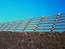 Fence in the Sunset Royalty Free Stock Photos