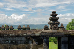 Fence of temple in ratu boko temple complex Stock Photos