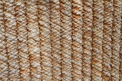 The fence of thick ropes gray-brown stock images