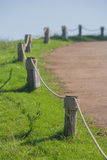 Fence with timber hitch. Stock Image