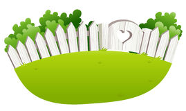 Fence and tree stock illustration