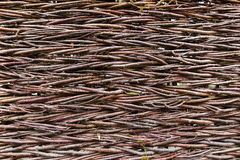 Fence of twigs Royalty Free Stock Image