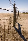 Fence Under Clear Skies Stock Photography