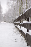 Fence under snow Royalty Free Stock Image