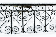 Fence under snow Stock Image