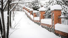 Fence under snow Royalty Free Stock Photos