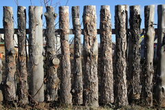 Fence of untreated wood Royalty Free Stock Photos