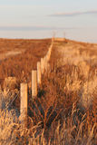 Fence uphill stock photo