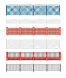 Fence vector illustration. Brick fence and wood fence. Fence aro Royalty Free Stock Images