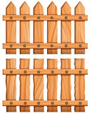 Fence. Vector illustration of wooden fence Royalty Free Stock Images