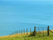 Fence with a View Royalty Free Stock Photos