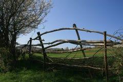 Fence. Village fence in elmalı, iznik, turkey stock photos