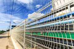Fence visible landscape . Industrial plants that have environmental management systems in the provinces of Thailand stock photo