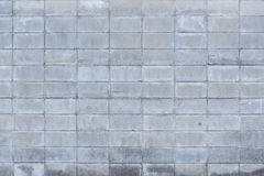 Fence that was made ??by stacking concrete blocks Stock Photo