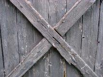 Fence weathered wood stock image