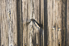 Fence weathered wood Stock Images