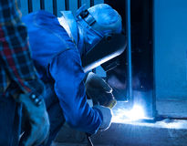 Fence Welder Royalty Free Stock Photos
