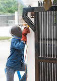 Fence Welder Stock Image