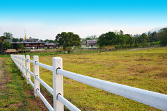 Fence white Royalty Free Stock Photo