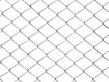 Fence white metal wire mesh isolate on white background Royalty Free Stock Images