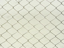 Fence white metal wire mesh Royalty Free Stock Photos
