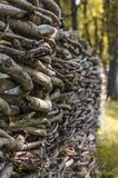Fence wicker from the vine Royalty Free Stock Photography