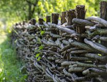 Fence wicker from the vine Royalty Free Stock Image
