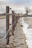 Fence in winter Stock Images
