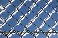 Fence, winter texture, background Royalty Free Stock Image