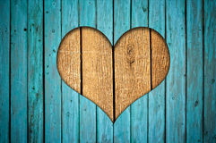 Fence With Heart Royalty Free Stock Image