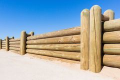 Fence Wood Poles Low Wall Royalty Free Stock Photography