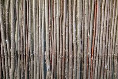 Fence of wooden branches as a background.  stock photo