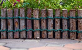 Fence wooden garden Stock Photos