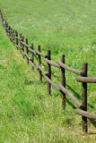 Fence Wooden Green Field Royalty Free Stock Images
