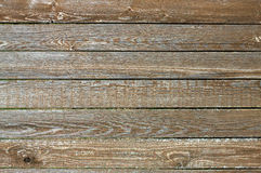 Fence from wooden horizontal planks as background closeup Stock Photo