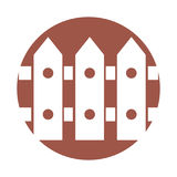 Fence wooden isolated icon. Vector illustration design Stock Image