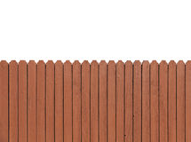 Fence wooden parallel bars, painted brown. Stock Photography