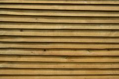 Fence of wooden planks horizontal. Close-up stock image