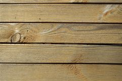 Fence of wooden planks horizontal. Close-up royalty free stock photography