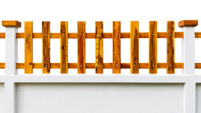 Fence wooden. On white background royalty free stock photo