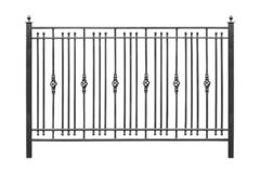 Fence with wrought iron elements
