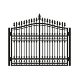Fence Wrought Iron Gate. Old Style Door. Vector. Illustration Stock Images