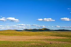 fence in WulanBu all grassland ancient battlefield Royalty Free Stock Photo